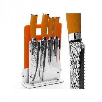 Mayer&Boch MB 24137 набор ножей 4пр. + подставка + разд/доска