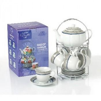 Bonjart 715-025 наб. 13 предм. на метал.стенде (чайник 1000 мл + 6 чашек 250 мл +6 блюдец)