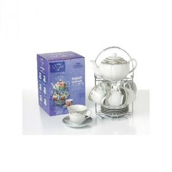 Bonjart 715-028 наб. 13 предметов на метал.стенде (чайник 1000 мл + 6 чашек 250 мл +6 блюдец)