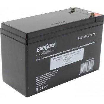 Exegate EXG1270 аккумулятор 12В/7Ач, клеммы F2 универсальные