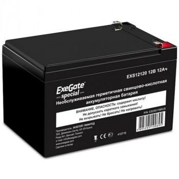 Exegate EXG12120 аккумулятор 12В/12Ач, клеммы F1 универсальные