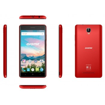 "Digma Q500 Hit 5""/3G/8GB/2SIM/AND.7.0 красный"