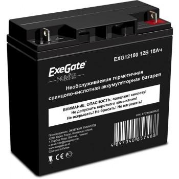 Exegate EXG12180 аккумулятор 12В/18Ач, клеммы под болт M5