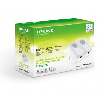 TP-link TL-PA4010P KIT 2шт 500mbps со встроенной розеткой