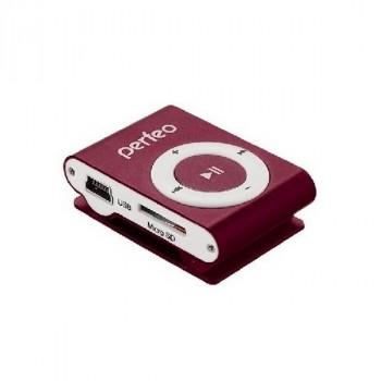 Perfeo VI-M001 Music Clip Titanium бордовый