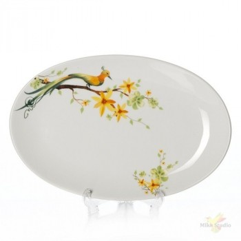 Domenik Paradise Bird тарелка овальная 26см (DM9016)