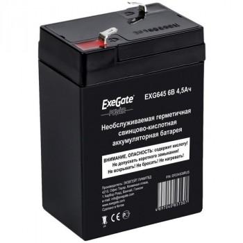 Exegate EXG645 аккумулятор 6В/4.5Ач, клеммы F1 униВерсальные