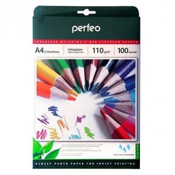 Perfeo A4 110 г/м2 глянцевая 100л (PF-GLA4-110/100) (G09)