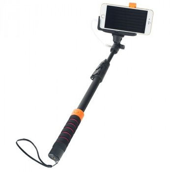 Perfeo M8 Selfie Stick 40-122CM+3.5MM Audio Cable+GO-Pro Adapter+Big Holder