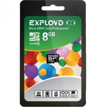 Exployd MicroSDHC 8Gb Class4 без адаптера
