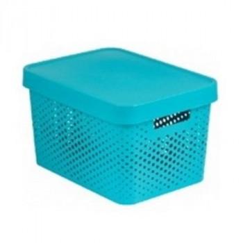 Curver 04746-X34-00 INFINITY коробка перфорированная с крышкой 4,5л лазурная