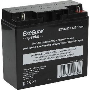 Exegate SPECIAL EXS12170 12В/17Ач, клеммы под болт M5