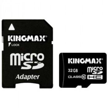 Kingmax MicroSDHC 32Gb Class10+адаптер