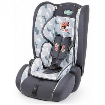 Смешарики (SM/DK-300 Pin) Детское кресло, (9-36 кг/9 мес-12 л), полиэст/хлопок, чёрн/тём.сер с Пином
