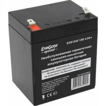 Exegate Special EXS1245 аккумулятор 12В/4.5Ач, клеммы F2
