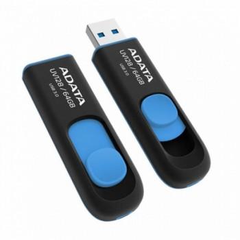 A-Data 64Gb UV128 USB3.0 черно-синяя выдвижная
