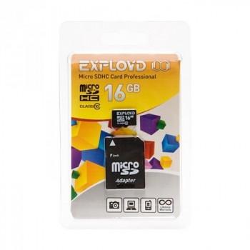 Exployd MicroSDHC 16Gb Class10 + адаптер SD UHS-1 30 MB/s