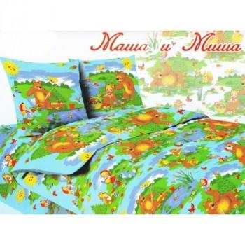 Bruno КПБ 1,5-спальный Маша и Миша