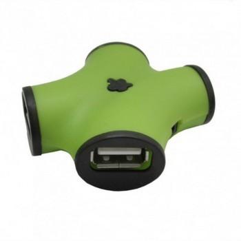CBR CH-100 4 порта, USB 2.0, зеленый