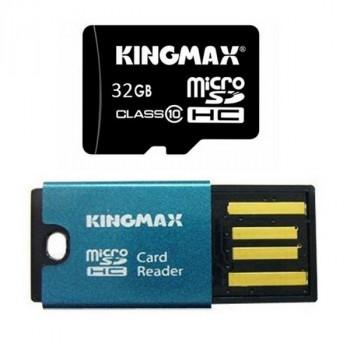 Kingmax MicroSDHC 32Gb Class10 + USB MicroSD READER