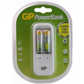 Gp PB410GS65-2CR2 + 2xААА 650Mah