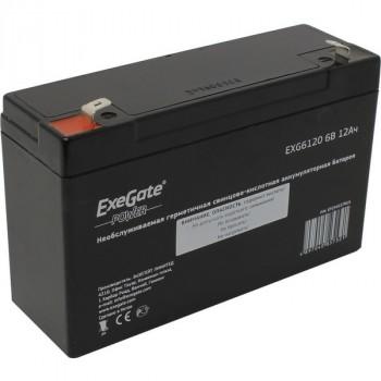Exegate EXG6120 аккумулятор 6В/12Ач, клеммы F1 униВерсальные
