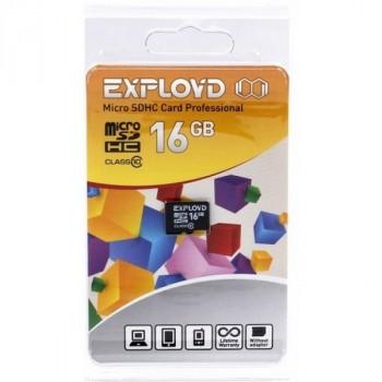 Exployd MicroSDHC 16Gb Class10 без адаптера SD