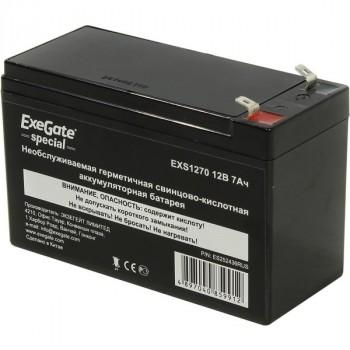 Exegate Special EXS1270 аккумулятор 12В/7Ач, клеммы F2 униВерсальные