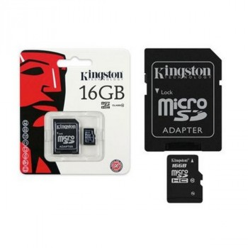 Kingston MicroSDHC 16Gb Class10 UHS-I 45MB/S + адаптер