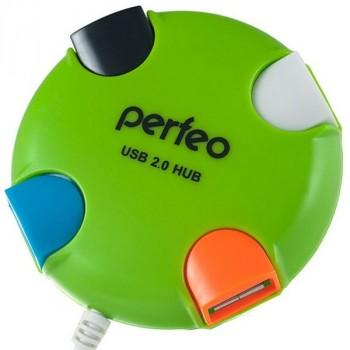 Perfeo USB-Hub PF-VI-H020 4 Port зеленый