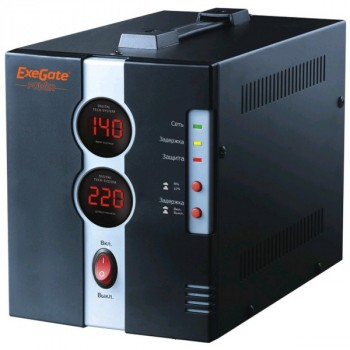 Exegate Power DCR-1500D (диапазон 140...260В, 2 розетки )