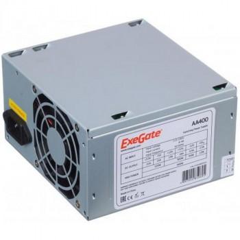 Exegate AA400 (400W, ATX, 8CM Fan, 24+4pin, 2*SATA, 1*IDE)