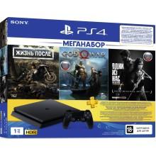 PlayStation 4 Slim 1Tb + Days gone, God of war, Одни из нас, подписка PS+