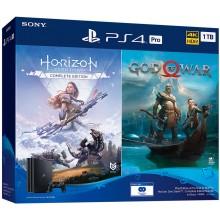 Sony Playstation 4 Pro 1Tb + God Of War, Horizon Zero Dawn